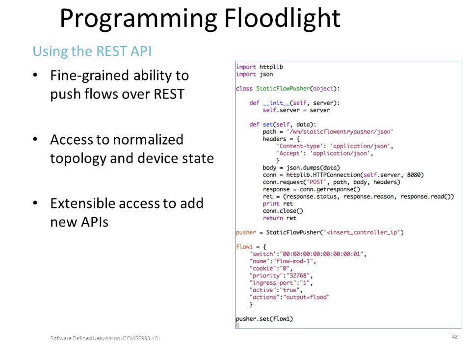 Programming Floodlight