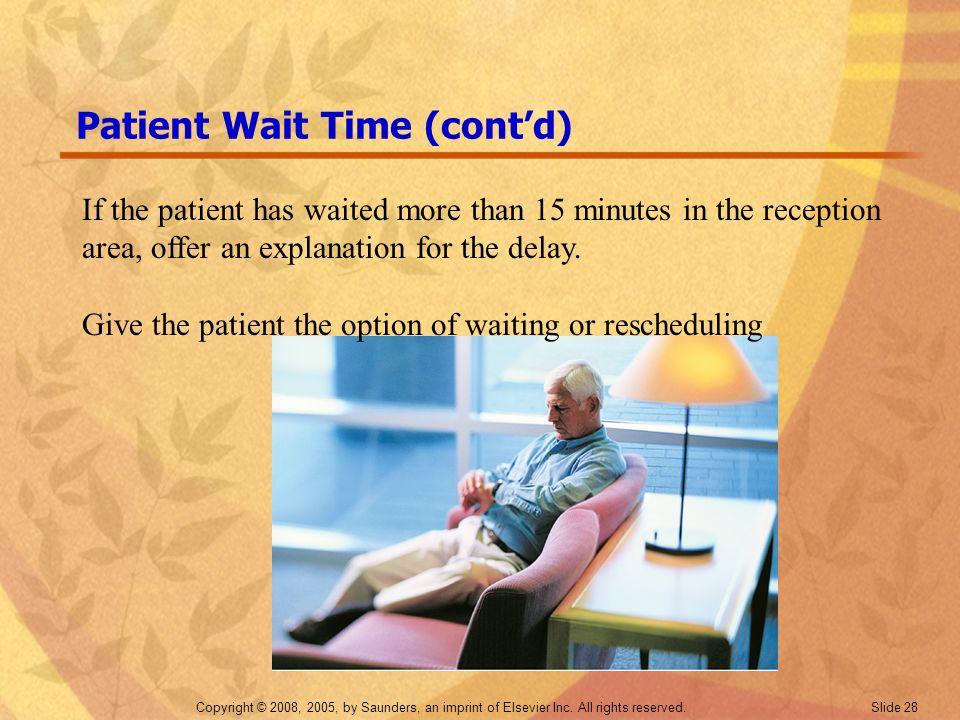 Patient Wait Time (cont'd)