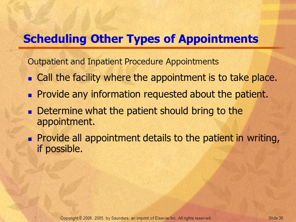 Scheduling Other Types of Appointments