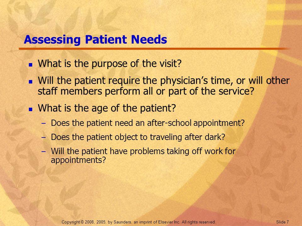 Assessing Patient Needs