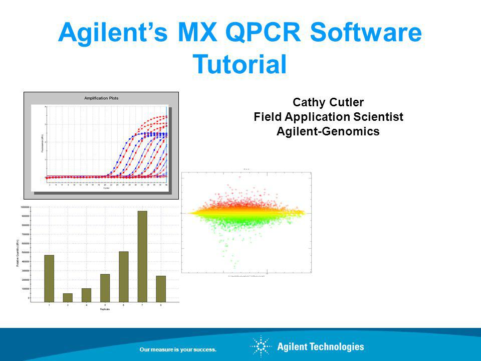 Agilent's MX QPCR Software Tutorial Field Application Scientist