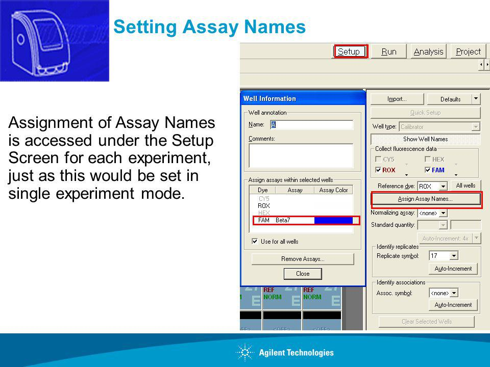 Setting Assay Names