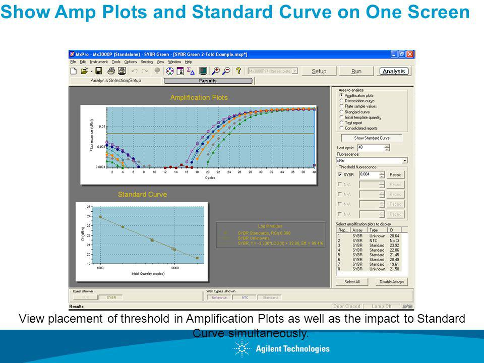Show Amp Plots and Standard Curve on One Screen
