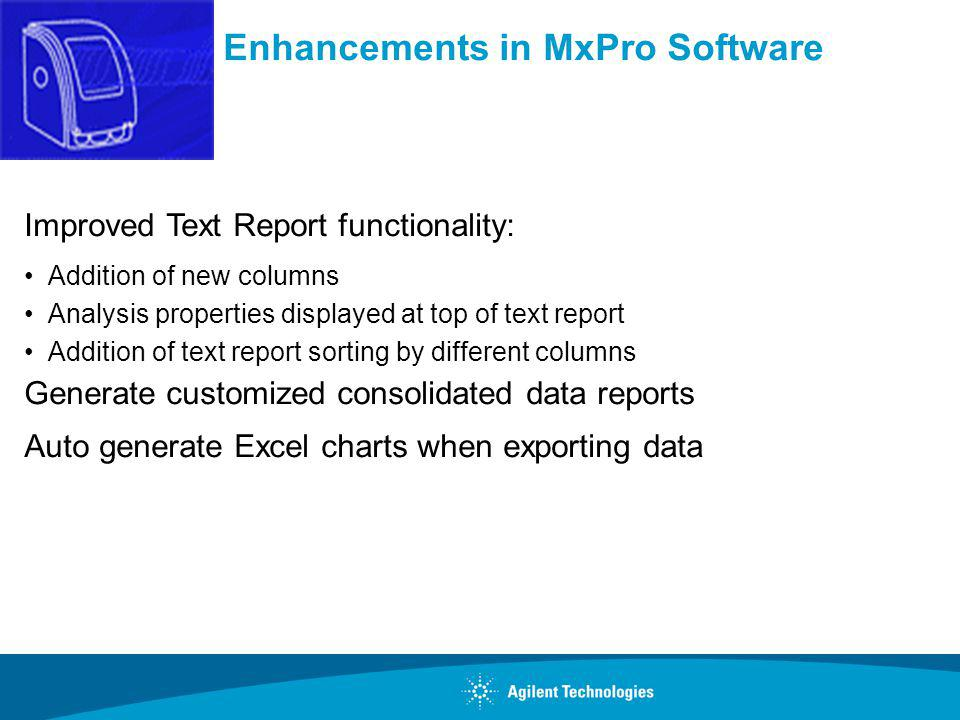 Enhancements in MxPro Software