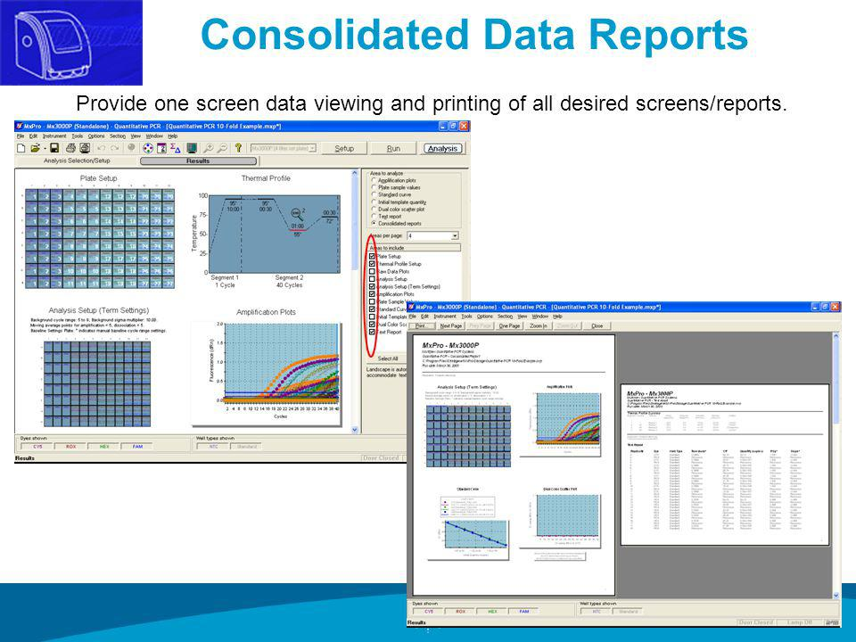Consolidated Data Reports