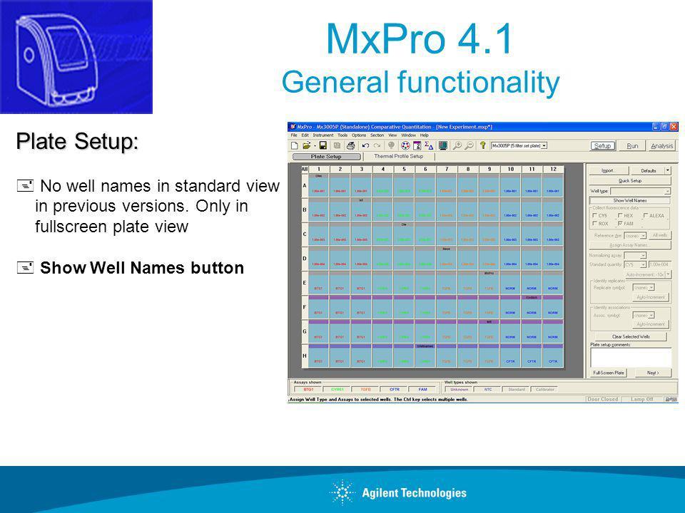 MxPro 4.1 General functionality