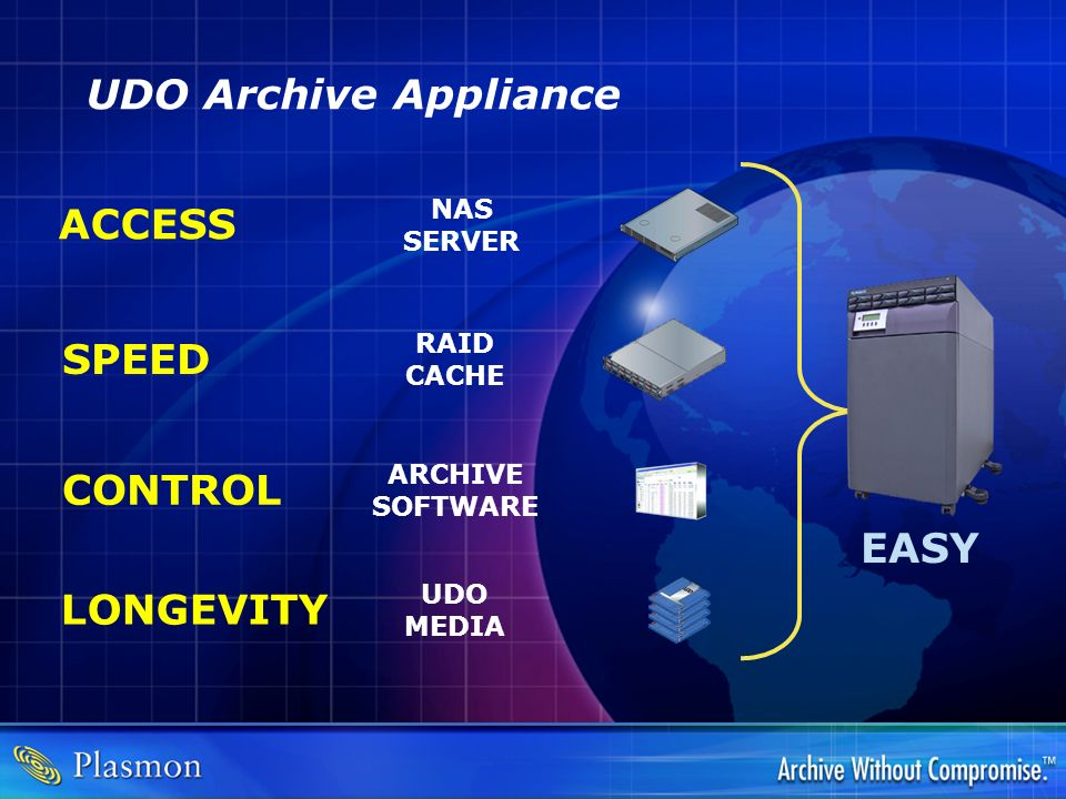 UDO Archive Appliance ACCESS SPEED CONTROL EASY LONGEVITY NAS SERVER