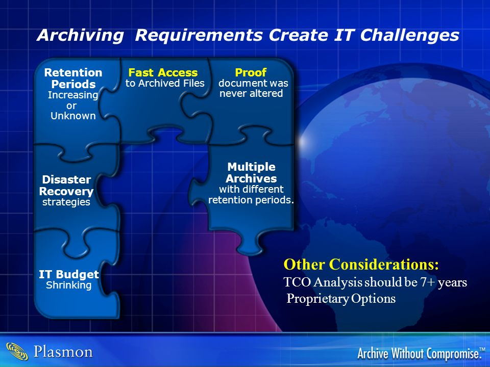 Archiving Requirements Create IT Challenges