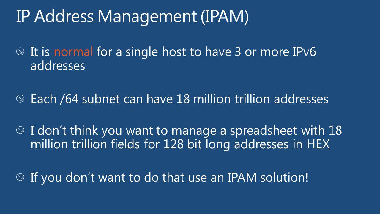 IP Address Management (IPAM)