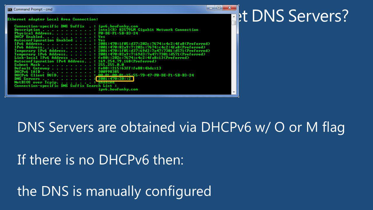 How Does a Windows Client get DNS Servers