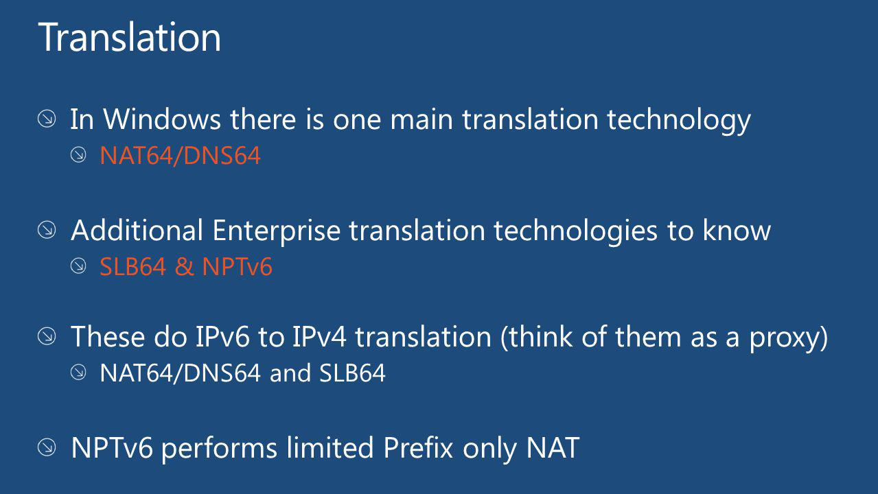 Translation In Windows there is one main translation technology