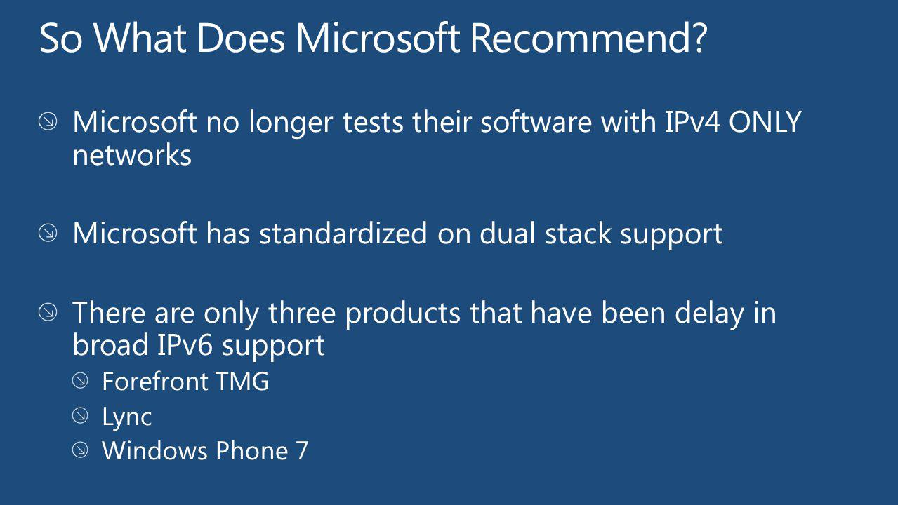 So What Does Microsoft Recommend