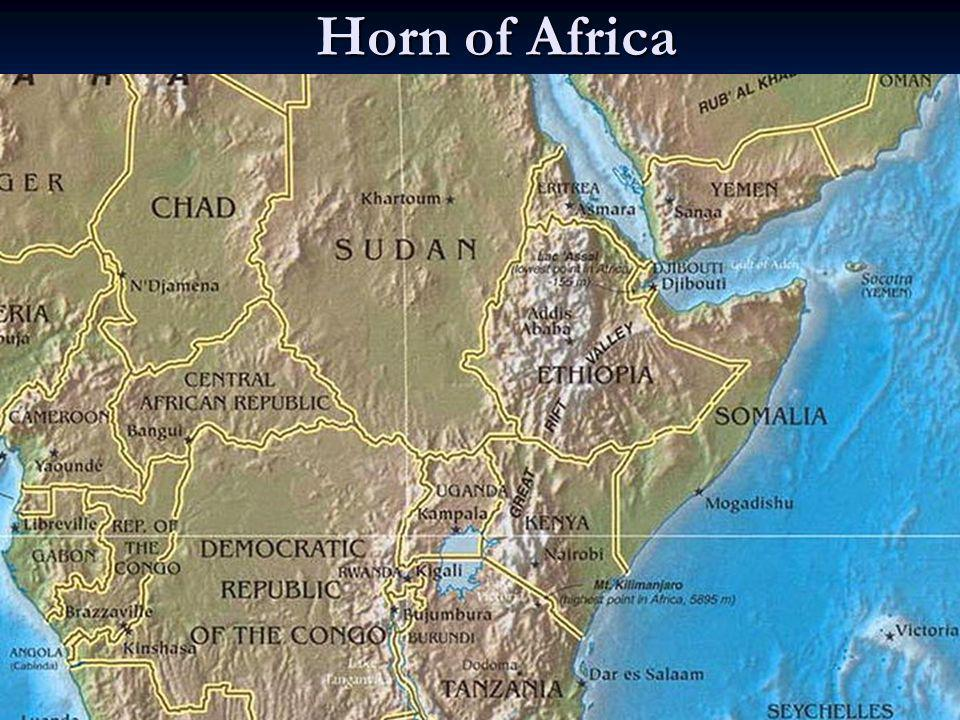 Horn of Africa Nairobi is 70 miles south of equator