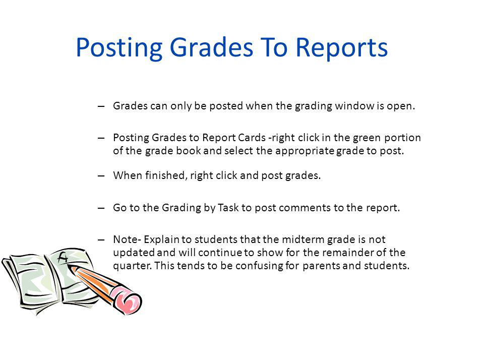 Posting Grades To Reports