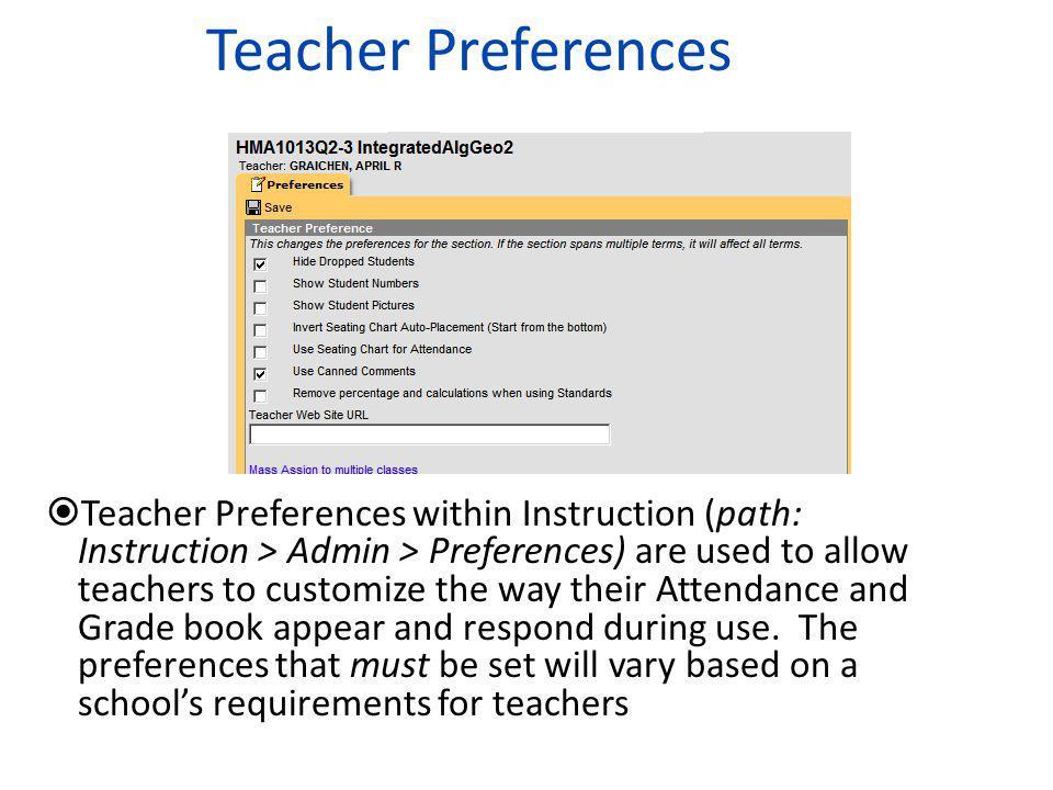 Teacher Preferences