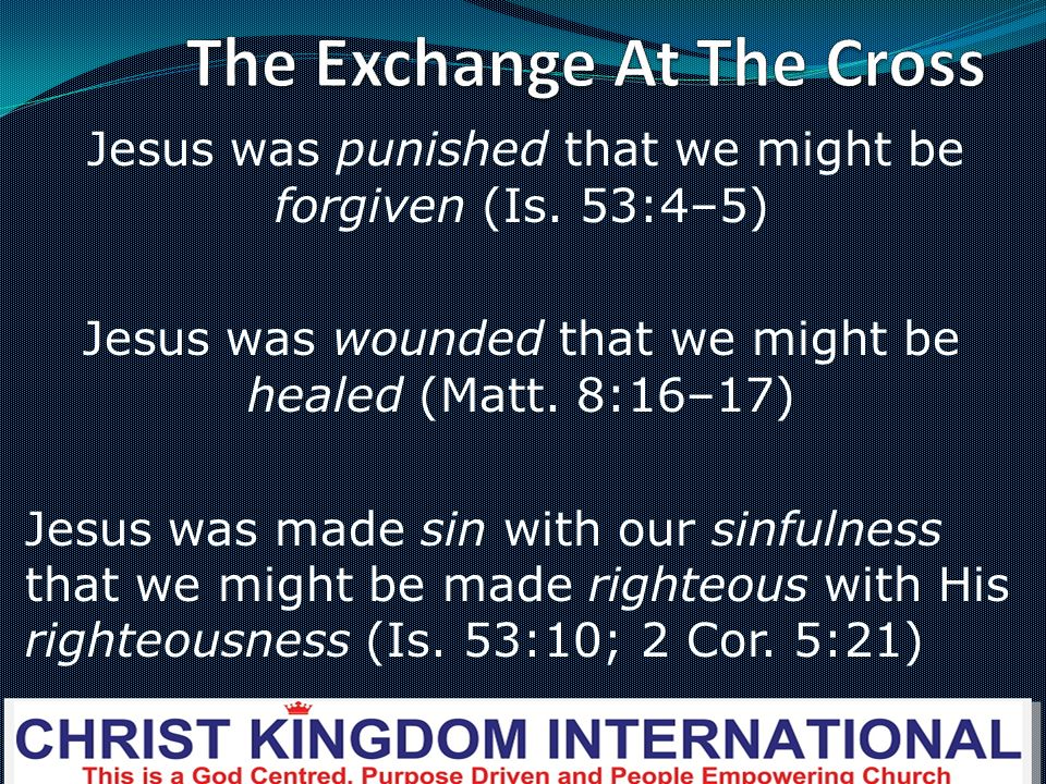The Exchange At The Cross