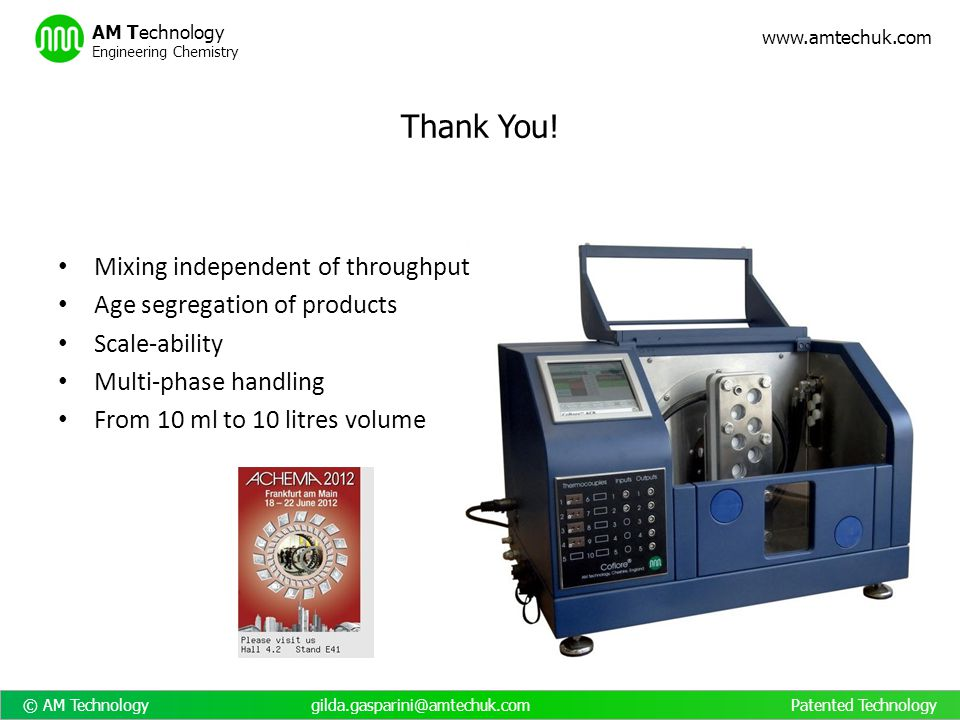 Thank You! Mixing independent of throughput