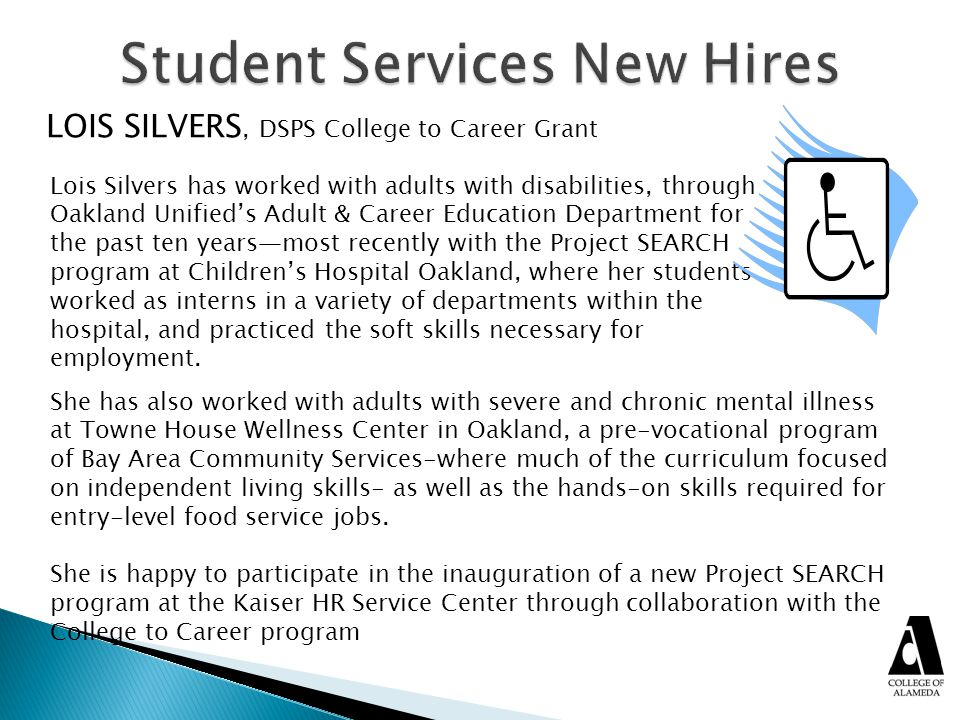 Student Services New Hires