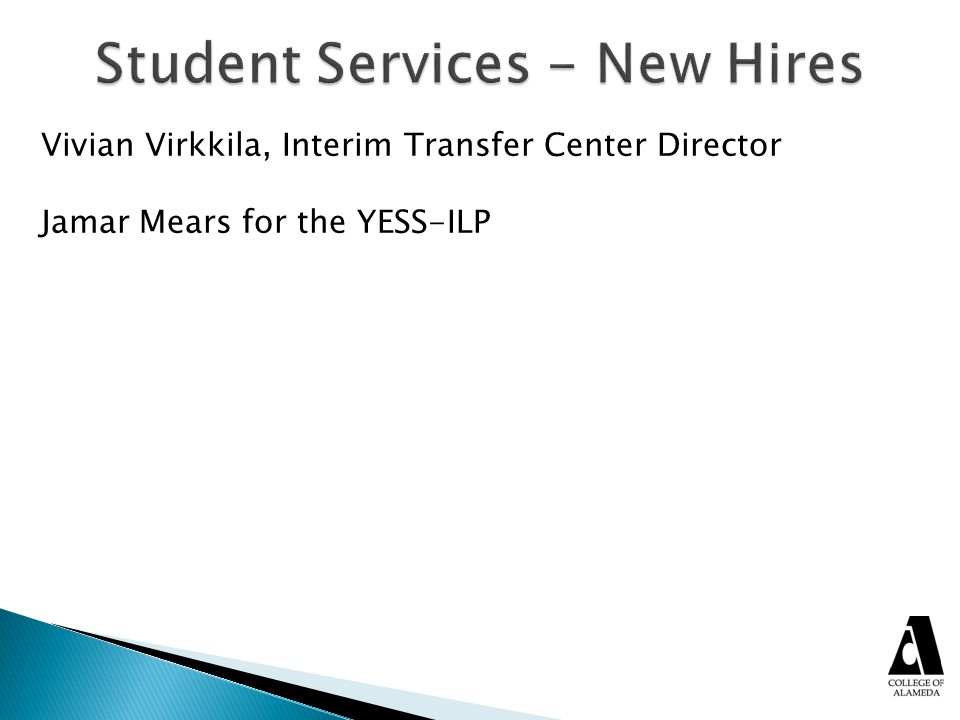 Student Services - New Hires