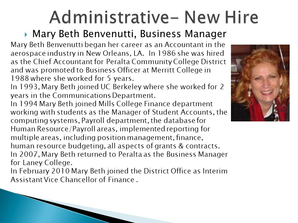 Administrative- New Hire