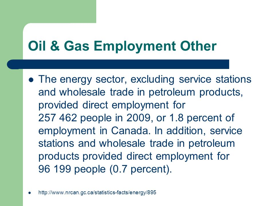Oil & Gas Employment Other
