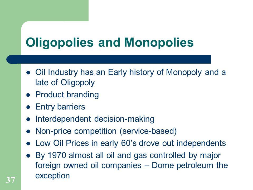 Oligopolies and Monopolies