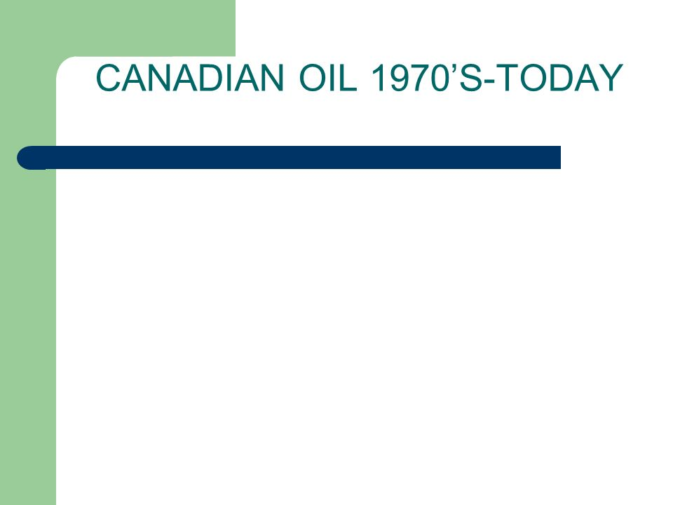 Canadian Oil 1970's-Today