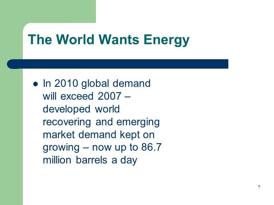 The World Wants Energy