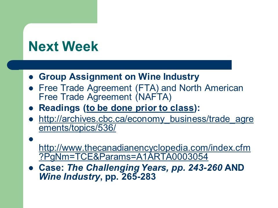 Next Week Group Assignment on Wine Industry