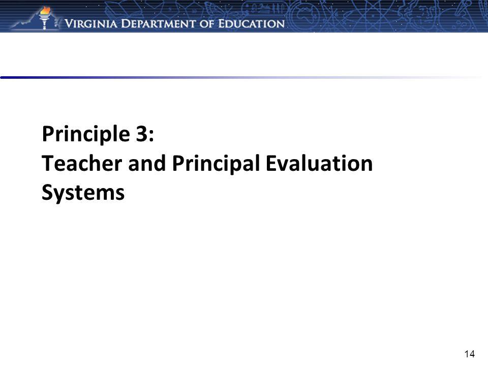 Principle 3: Teacher and Principal Evaluation Systems
