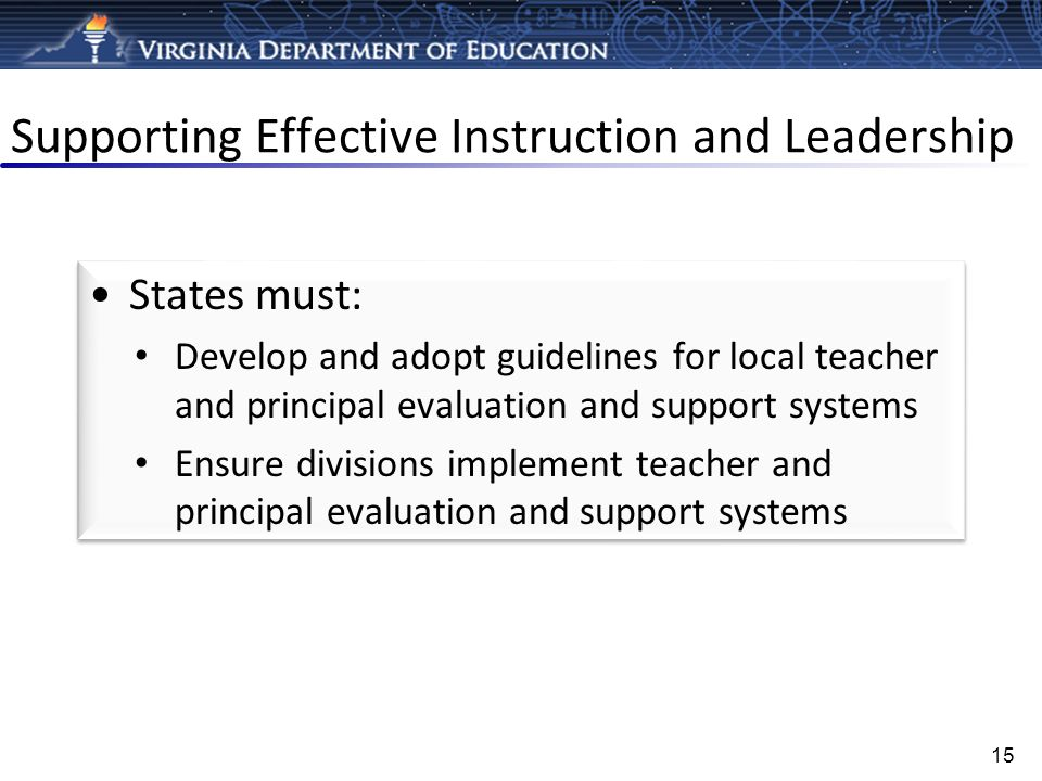 Supporting Effective Instruction and Leadership