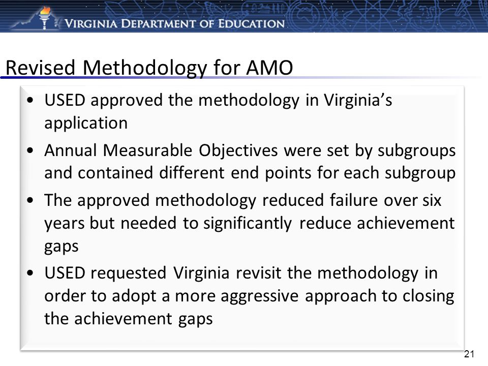 Revised Methodology for AMO