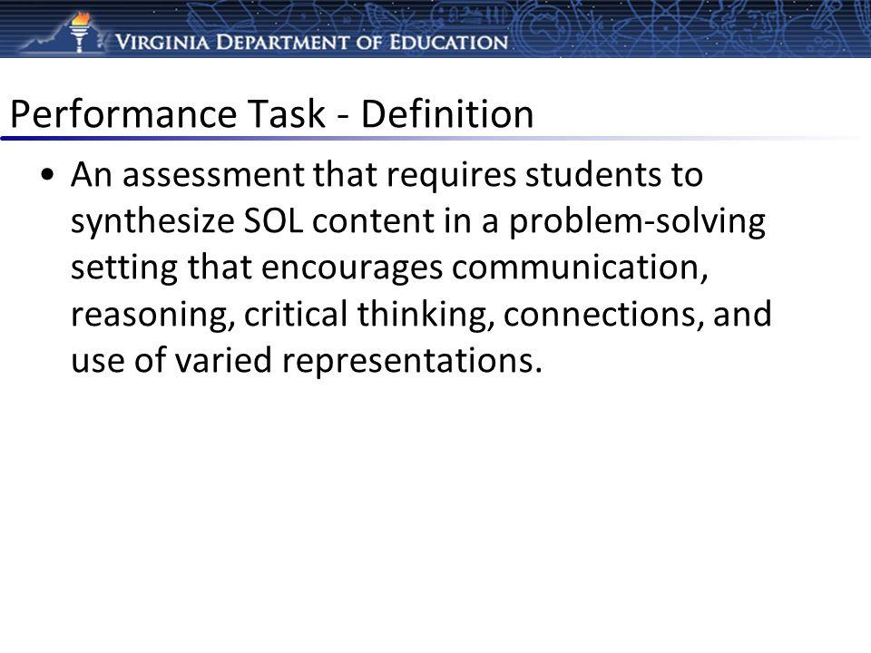 Performance Task - Definition