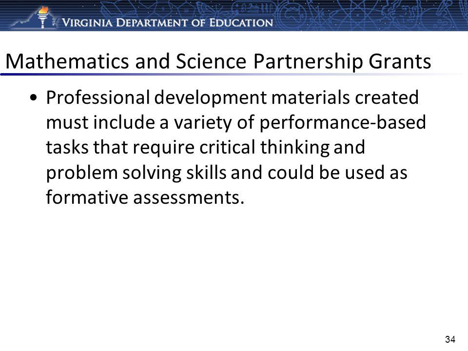 Mathematics and Science Partnership Grants