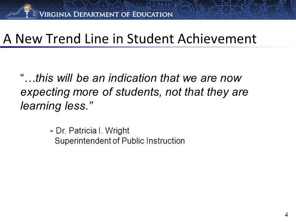 A New Trend Line in Student Achievement