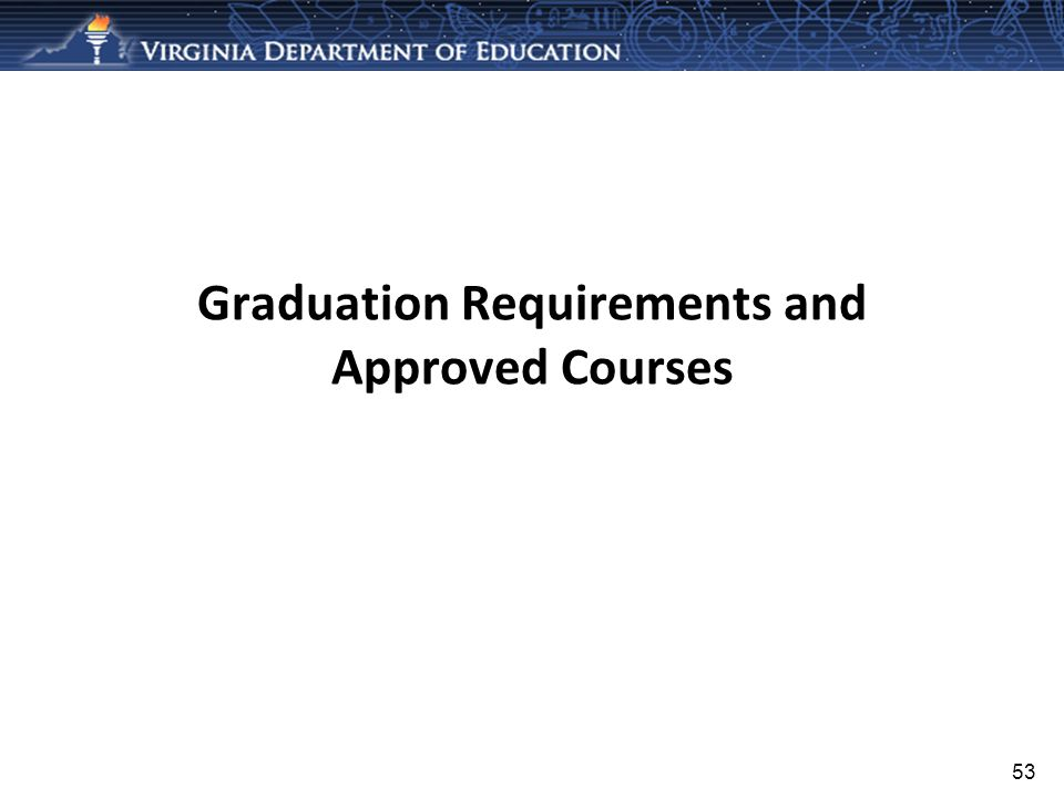 Graduation Requirements and Approved Courses