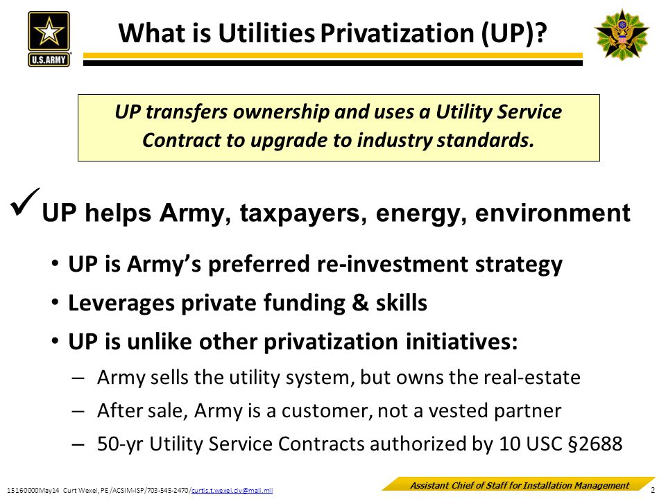 What is Utilities Privatization (UP)