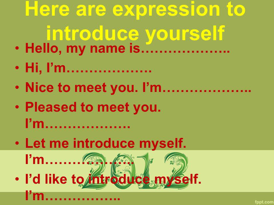 Online dating how to introduce yourself