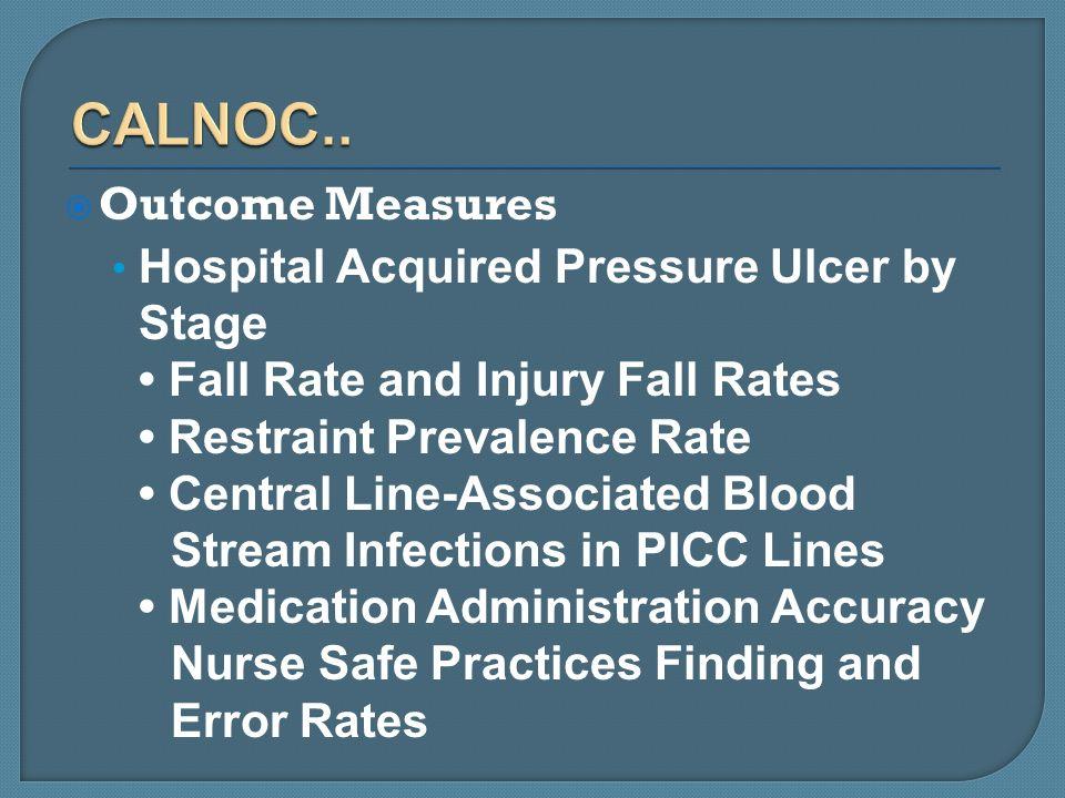 CALNOC.. Outcome Measures