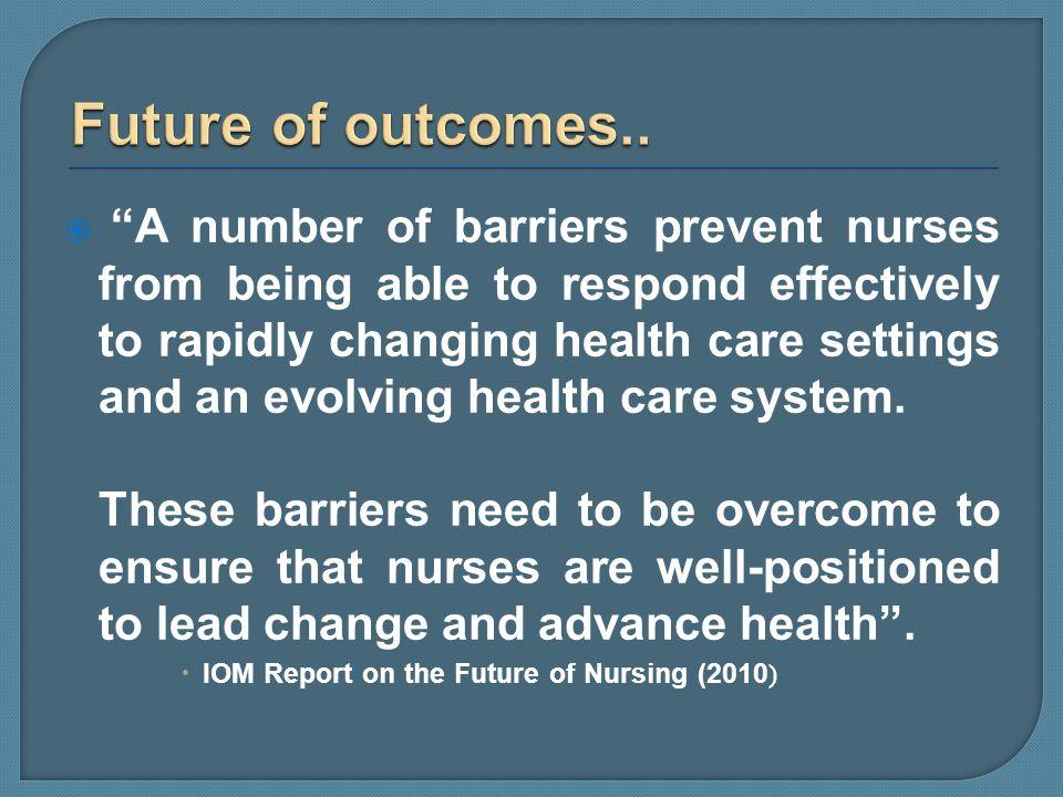 Future of outcomes..