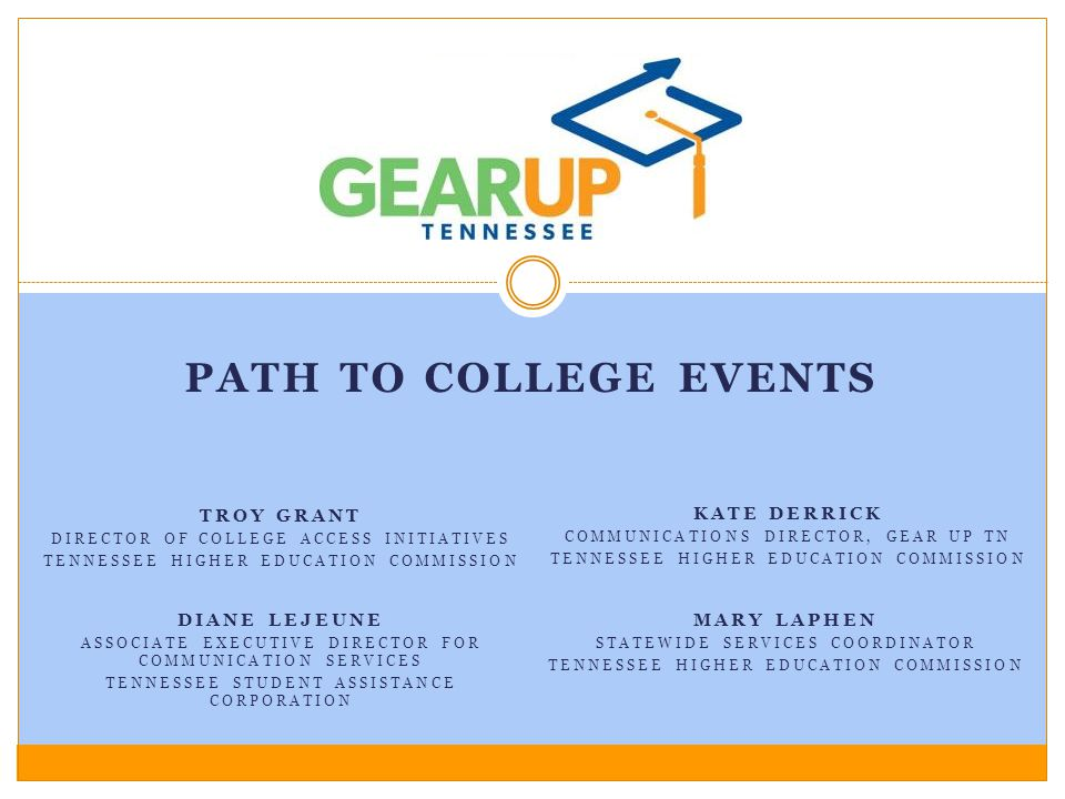 Path to College events Troy grant Kate Derrick Diane lejeune