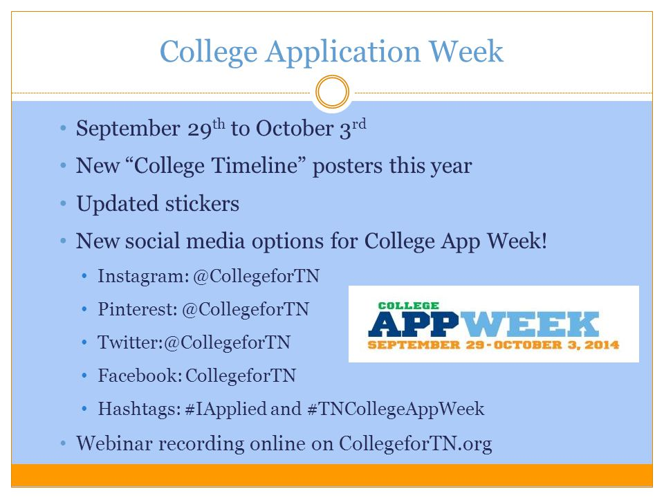 College Application Week