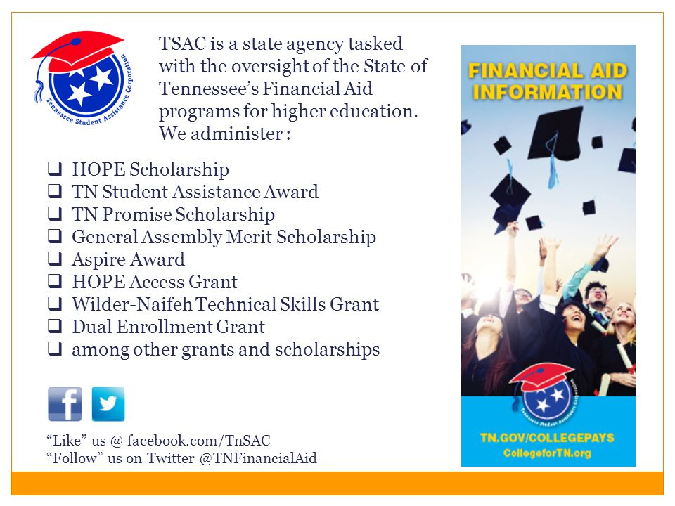 TN Student Assistance Award TN Promise Scholarship