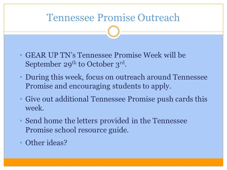 Tennessee Promise Outreach