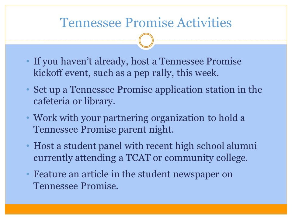 Tennessee Promise Activities