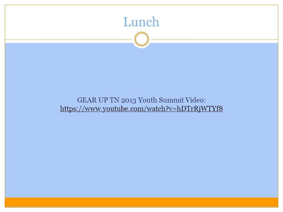 GEAR UP TN 2013 Youth Summit Video: