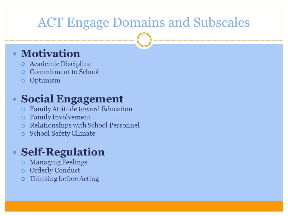 ACT Engage Domains and Subscales