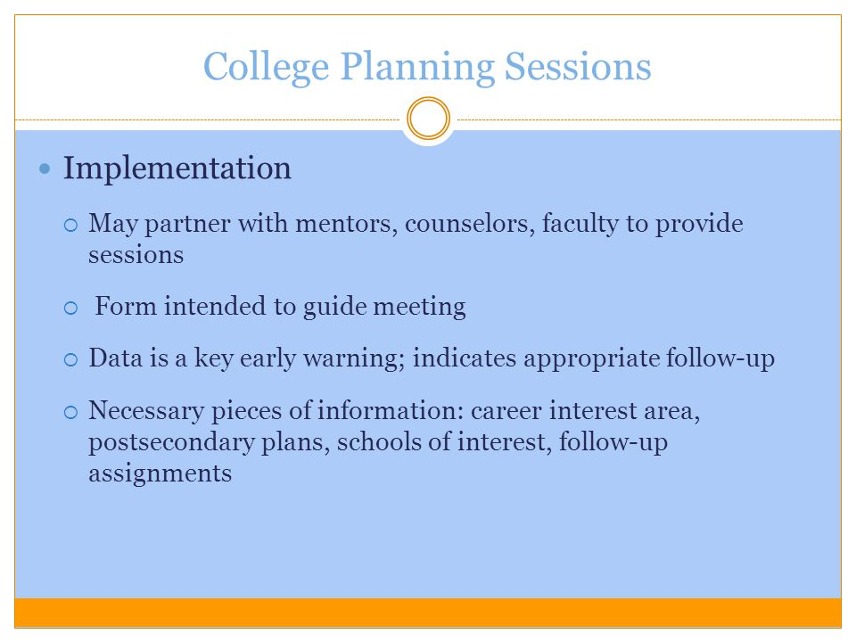 College Planning Sessions