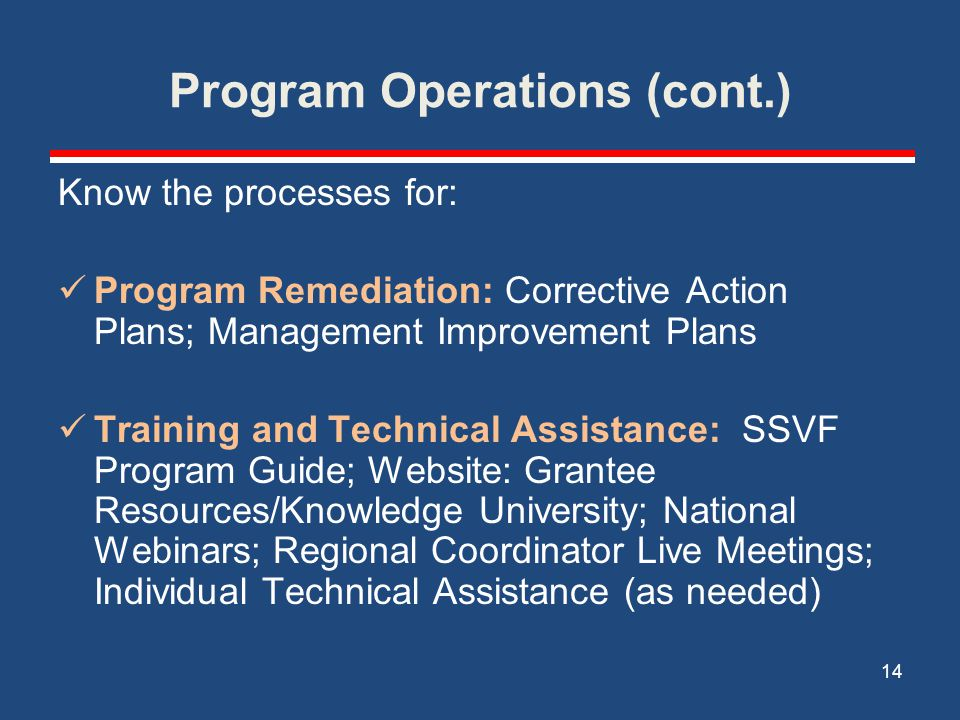 Program Operations (cont.)
