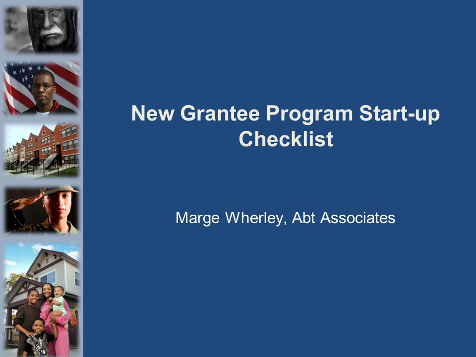 New Grantee Program Start-up Checklist